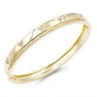 Gold Plated Heart CZ Stone Bracelet
