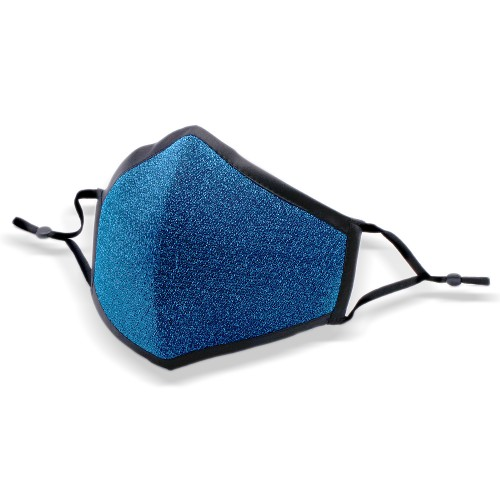 Shiny Blue Fashion Face Mask With Adjustable Ear Loop