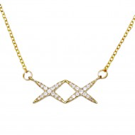 Gold Plated with Cubic Zirconia Necklaces