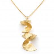 Gold Plated With Long Fashion Statement Neckalce