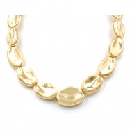 "Gold Plated 16""+5"" Fashion Statement Necklaces"