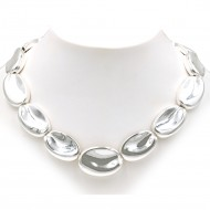 "Silver Plated with 16""+5"" Fashion Statement Necklaces"