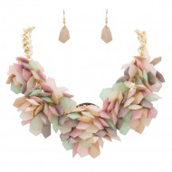 Gold Plated WIth Multi Color Beads Statement Necklaces