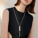 2-Tones with Cubic Zirconia Lariat Necklaces