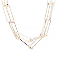 Gold Plated Double Layers Chain Necklace