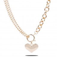 Gold Plated With Heart Necklace