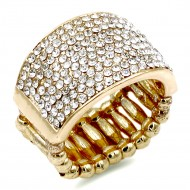Gold Plated with Crystal Stretch Rings