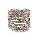 Silver Rhinstone Stretch Ring
