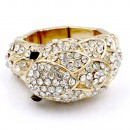 Gold Plated with Rhinstone Stretch Rings