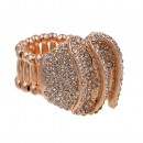 Rose Gold Plated with Clear Crystal Stretch Ring