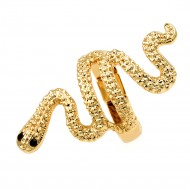Gold Plated with Snake Stretch Rings