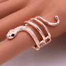 Rose Gold Plated with Snake Stretch Rings