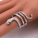 Rhodium Plated with Snake Stretch Rings