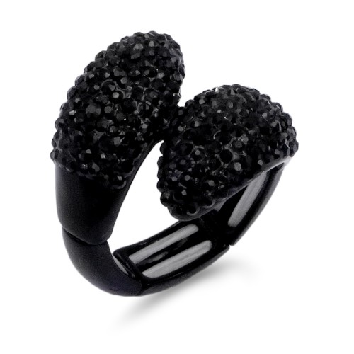 Jet Black Stretch Rings