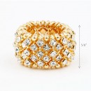 Gold Plated wtih Clear Crystal Animal Stretch Rings