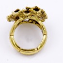 Antique Gold Plated Flower Stretch Ring