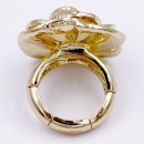 Gold Plated Flower Stretch Ring