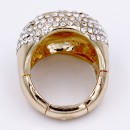 Gold Plated With Clear Crystal Stretch Ring