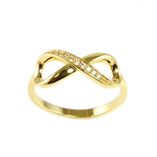 Gold Plated with Cubic Zirconia Infinity Sized Rings