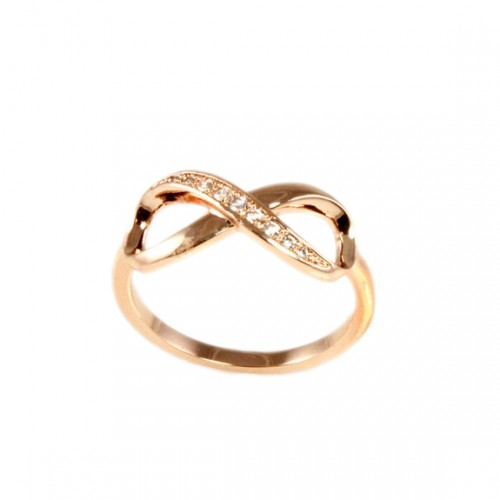 Rose Gold Plated with Cubic Zirconia Infinity Sized Rings