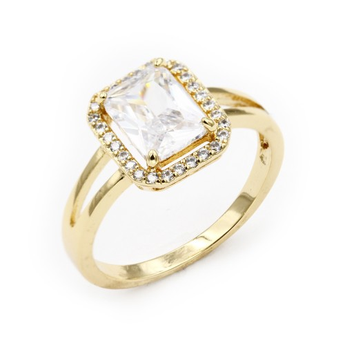 Gold Plated with CZ Cubic Zirconia Sized Rings