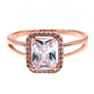 Rose Gold Plated with CZ Cubic Zirconia Sized Rings