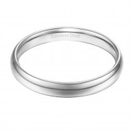 Rhodium Plated Stainless Steel 3MM Wedding Band Ring