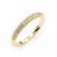 Gold Plated With CZ Cubic Zirconia Wedding Sized Rings