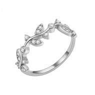 Rhodium Plated WIth CZ Cubic Zirconia Wedding Sized Rings