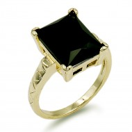 Gold Plated With Black Color CZ Cubic Zirconia Wedding Rings