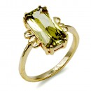 Gold Plated With Apple Green Color Cubic Zirconia Wedding Rings