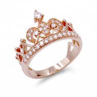 Rose Gold Plated Clear CZ Ring