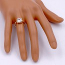 Gold Plated Clear Color CZ Ring