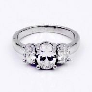 Rhodium Plated Clear CZ Ring