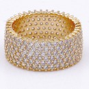 Gold Plated with Cubic Zirconia Rings, Size 9