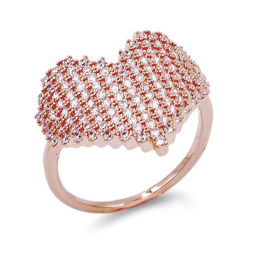 Rose Gold Plated with Cubic Zirconia Rings, Size 9