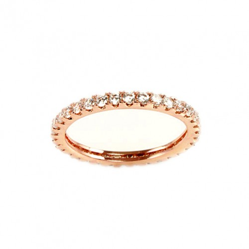 Rose Gold Plated with Cubic Zirconia Sized Rings