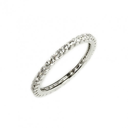 Rhodium Plated with Cubic Zirconia Rings
