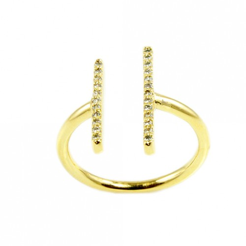 Gold Plated with Cubic Zirconia Sized Rings