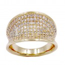 Gold Plated Micro CZ Paved Statement Cocktail Ring