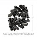 Black Tone with Jet Black Cubic Zirconia Adjustable Ring