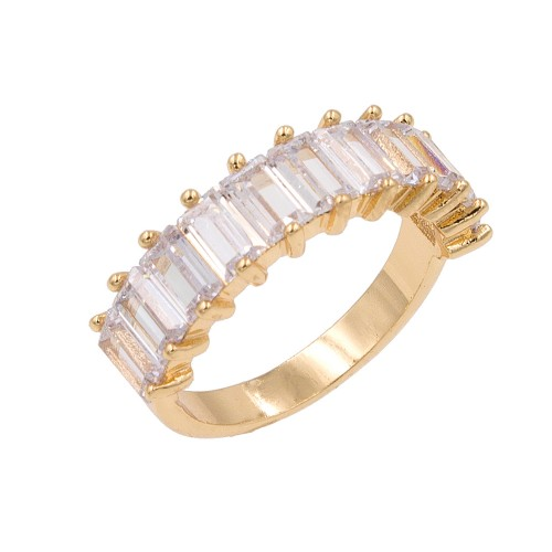 Gold Plated With Clear Cubic Zirconia Everyday Rings