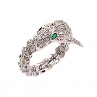 Rhodium Plated with CZ Cubic Zirconia Snake Sized Rings