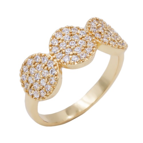 Gold Plated WIth CZ Cubic Zirconia Pave Sized Rings