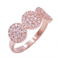 Rose Gold Plated WIth CZ Cubic Zirconia Pave Sized Rings