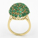 Gold Plated With Emerald Green CZ Cubic Zirconia Sized Rings