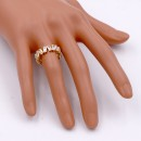 Gold Plated with Clear Color CZ Cubic Zirconia Eternity Rings