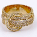 Gold Plated Buckle with CZ Ring