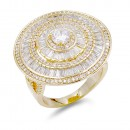Gold Plated Halo with CZ Ring