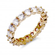 Gold Plated with Clear CZ Ring